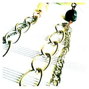 Handmade Mismatched Earrings, Chain Earrings